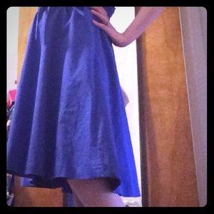 XXS Bright Blue Express Full Skirt with Sash 💙
